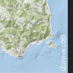 iZurvive DayZ & ARMA Map: Chernarus+ Terrain Map 1.05